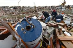 May 20, 2013 - an EF5 tornado strikes Moore, OK. People search for belongings as water squirts from a water boiler in a destroyed neighborhood. Within minutes of the disaster, Republican Senators Inohofe and Colburn had their hands out for Federal disaster aid. These same Senators held up disaster aid for NY after Hurricane Sandy for months, but now demand it be delivered immediately to OK. They also voted to kill FEMA and yet both have now complained FEMA is not working fast enough in…