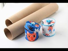 Gift box/jewelry box out of empty paper rolls/Best out of waste/Decoupage gift boxes - YouTube