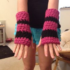 Pink and black I love and can be made in no time