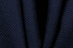 Bright Navy Twill Wool Coating