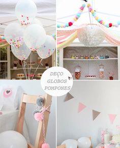 globos y confeti