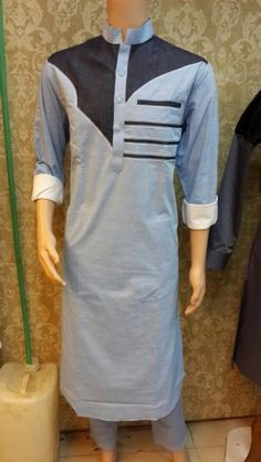 Denim patch pathani