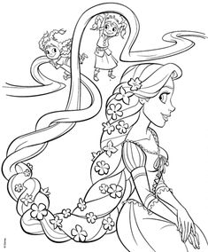 Rapunzel and Four Sisters coloring page from Tangled category. Select from 22482 printable crafts of cartoons, nature, animals, Bible and many more.