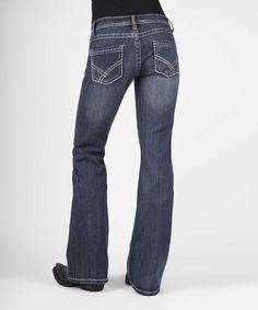 This Blue Double Rhinestone Bootcut Jeans - Plus Too by Stetson is perfect! #zulilyfinds