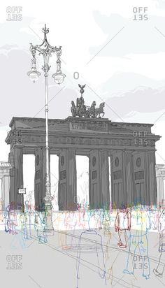 Artist: Rupert Van Wyk stock images from Offset. Authentic photography and illustrations by award-winning artists. Pencil Photo, Business Cartoons, Museums In Nyc, Brandenburg Gate, Abstract Watercolor Art, Horror House, A Level Art, Photomontage, Digital Illustration
