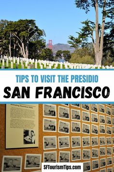 Explore San Francisco's Presidio. This former military base is full of fun indoor and outdoor things to do. #sanfranciscothingstodo #sanfranciscotravel #presidiosf Northern California Travel, San Francisco Photography, National Cemetery, San Francisco Travel, Free Things To Do, Best Places To Travel, Usa Travel, Best Hotels, Outdoor Activities