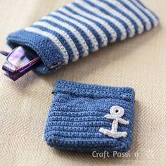 nautical theme purse - free pattern