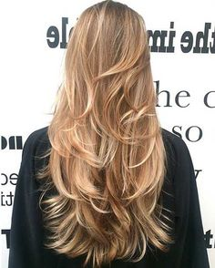 Multi Toned Layers for Long Hair