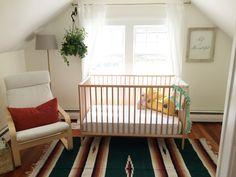 Simple, gender neutral, modern and earthy nursery