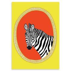 Jen Smith - Zebra, Art Print, 42 x 30cm