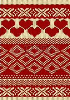 Knitted yarn swatch with slavic ornament Stock Photo - 11881482