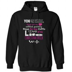 My Correctional officer - #funny sweater #neck sweater. SAVE => https://www.sunfrog.com/LifeStyle/My-Correctional-officer-Black-Hoodie.html?68278