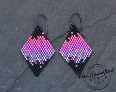 Mini Aurora Borealis Earrings by NewfangledNorth on Etsy