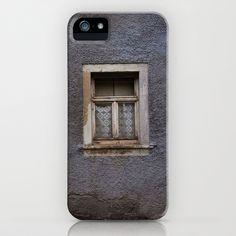 Rear Window iPhone Case by Rainer Steinke - $35.00 window grey leaf autumn single fenster grau laub herbst