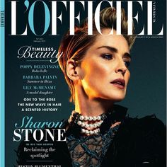 Sharon Stone wearing Lanvin choker for L'Officiel Australia