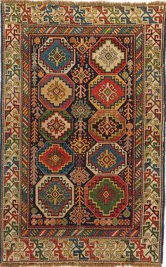 Caucasian possibly Moghan rug,  159 cm x 102 cm, late 19th c, Hallwyl Museum