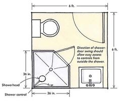 Small Bathroom Floor Plans with Corner Shower