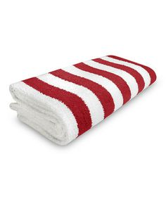 Loving this Lifeguard Red Stripe Cabana Beach Towel on #zulily! #zulilyfinds
