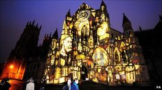 The facade of York Minster is once again being lit up as the Illuminating York festival returns to the city. York Minster, Rose Window, Main Attraction, Yorkshire, Places To See, Facade, Stained Glass, Culture, City