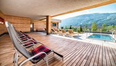 Sonnenterrasse mit Kaltwasserpool Salzburg, Family Fitness Center, Hot Tub Bar, Organic Restaurant, Travel Booking Sites, Ski Lift, Cozy Fireplace, Indoor Outdoor, Outdoor Decor