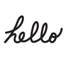 Hello word art title -  Silhouette Design Store!