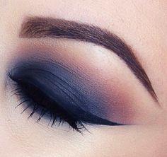 Navy blue and purple eyeshadows
