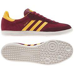 Adidas Samba Burgundy/Yellow