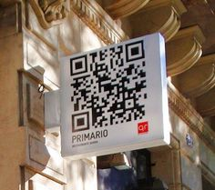 This may be the world's first illuminated QR code. Scan this code for the menu of the day.
