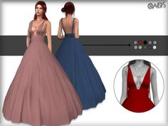 Demy Gown by OranosTR at TSR • Sims 4 Updates