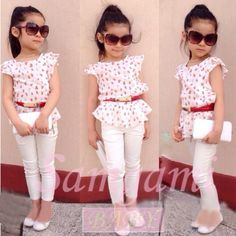 2015 meninas verão define vestuário crianças meninas floral saia + camiseta conjuntos de roupas crianças conjuntos de roupas de manga curta em Conjuntos de Mamãe e Bebê no AliExpress.com | Alibaba Group