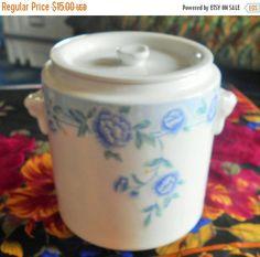 Black Friday Sale White Jade Porcelain Jar Container with Lid by VintageVarietyFinds on Etsy