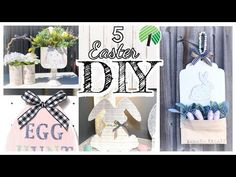 Holiday Handprint & Footprint Crafts : The Chirping Moms Dollar Tree Gifts, Footprint Crafts, Easter Table Decorations, Tree Crafts, Dollar Stores, Dollar Dollar, Easter Crafts, Easter Ideas, Spring Crafts