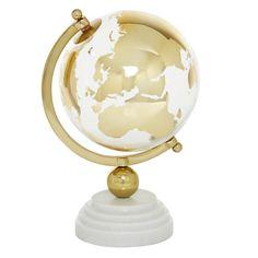 Gold Globe, Map Wall Decor, Room Decor, Globe Decor, Concrete Art, Glass Globe, White Marble, Decorative Accessories, Cleaning Wipes
