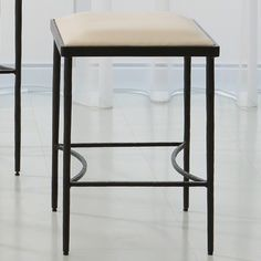 """Hammered 21.5"""" Bar Stool with Cushion"""