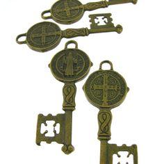 4 pcs Antique Brass Bronze Alloy Skeleton by FancyGemsandFindings, $3.00