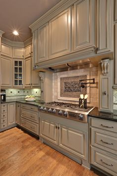 Blend of Beige and Grey...beautiful kitchen