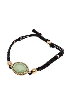 Oval stone knot cord pull tie friendship bracelet.   Oval Pull-Tie Bracelet by Potissi. Accessories - Jewelry - Bracelets New York City New Jersey