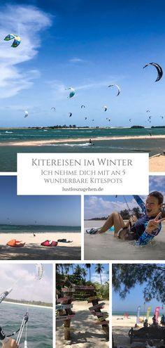 Kitesurfen im Winter? Am liebsten in warmem Wasser und ohne Neoprenanzug? Ich zeige euch schöne Kitespots um dem kalten Winter zu entfliehen!