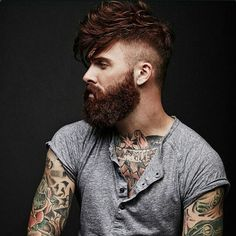 The Bearded Men is your one stop Beard Oil and Beard Grooming site to bring your beard needs to life. We have been successfully running for 3 years serving plus happy customers when means you can shop at The Bearded Men with a piece of mind. Great Beards, Awesome Beards, Best Beard Styles, Hair And Beard Styles, Moustaches, Hairy Men, Bearded Men, Bart Tattoo, Beard Styles