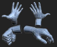 low poly hands - Polycount Forum
