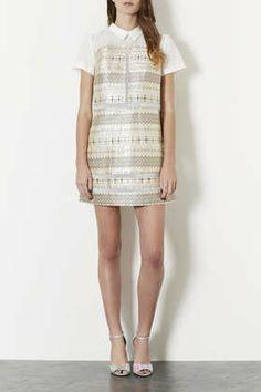 COLLAR JACQUARD DRESS #DearTopshop