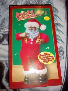 #3 jingle bell rock Santa retired in 1999. The classic hit recording, Rocking Around the Christmas Tree song by Brenda Lee plays as Santa rocks and rolls. | eBay!