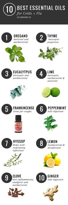 10 BEST: Essential OIls for Staying Healthy this Winter | http://hellonatural.co/10-essential-essential-oils-for-colds-flu/