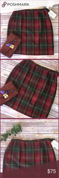 """Jones NY Street chic in this JNY brand new rocking wool skirt, even though it's hot doesn't mean we can't rock the office or those fancy dinners still looking runway fabulous!. 100%wool measurements approx 21"""" from waist. Offer in, I'm ready. Jones New York Skirts"""