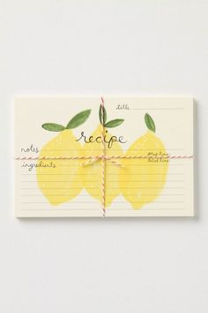 we love stationery. (via stationary / recipe cards) Nice gift idea for a friend in need of some new cooking ideas! Stationary Supplies, Stationary Design, Handmade Stationary, Cute Stationery, Stationery Paper, Paper Crafts, Diy Crafts, Scrapbook, Grafik Design