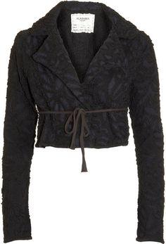 Alabama Chanin Annas Garden Jacket in Black - Lyst