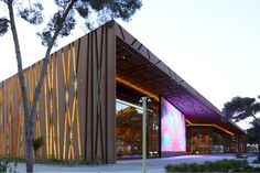 Libya's Stunning Tripoli Congress Center is Protected by a Tree-Inspired Mesh Facade Tripoli Congress Center-Tabanlioglu Architects – Inhabitat - Green Design, Innovation, Architecture, Green Building