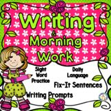 """Daily Oral Language, """"Fix-It"""" Sentences, Writing and Language Skills, Sight Word Practice (High Frequency Words) are all part of these daily practice sheets! Common Core objectives are practiced along with TEKS (for our fellow Texans)!  Possible uses for this First Grade Daily Writing NO PREP, JUST PRINT resource: Morning Work, Small Group Instruction, Intervention, Assessment, Homework or Center Work"""