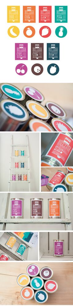Brand identity & graphic design for a new line of fruit jam products.