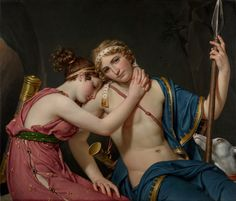 """""""The Farewell of Telemachus and Eucharis,"""" Jacques-Louis David, 1818. Oil on canvas. J. Paul Getty Museum 